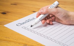 Storing your household will be a lot easier if you have a checklist
