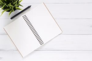 Blank notebook. Make your moving to Harlem easier