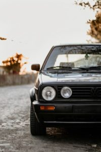 If you're on a tight budget, a well-kept oldtimer such as this black Golf Mk2 will do the job.