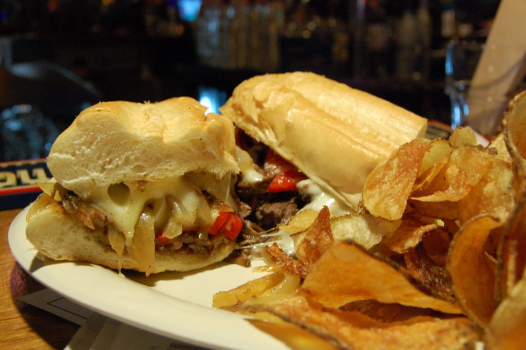 cheese steak on a plate