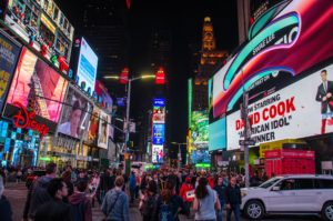 New York neon signs and billboards