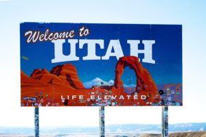 Sign welcome to Utah