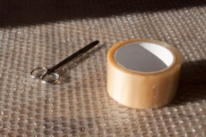 You will need tape and bubble wrap to safely pack small appliances