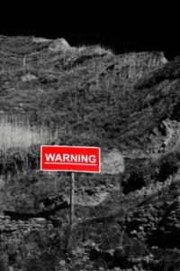 Warning sign: landslide