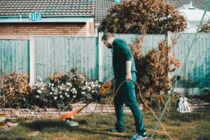 Declutter and sweep your garden