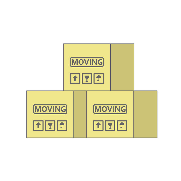 labeled moving boxes with cheap movers