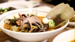 Korean restaurants in Manhattan - bowl of braised octopus in miso soup