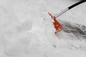 To avoid injuries during bad weather moving, clean all your pathways