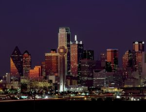 View of Dallas at night