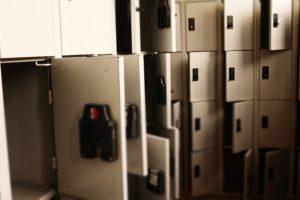 storage unit close up
