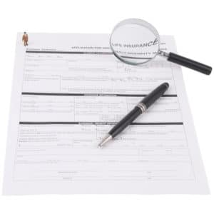 Pen, Magnifying Glass And Document
