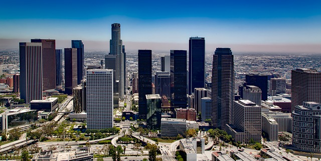 A sky view of Los Angeles during daytime