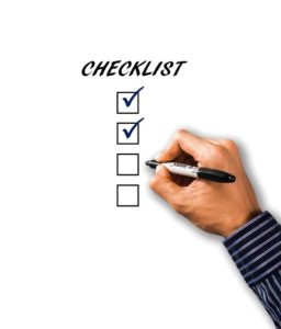 a depiction of a checklist