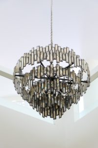 A chandelier that you need to take care when you pack artwork for moving.