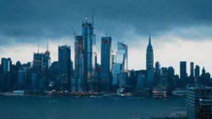 Hoboken at dusk.