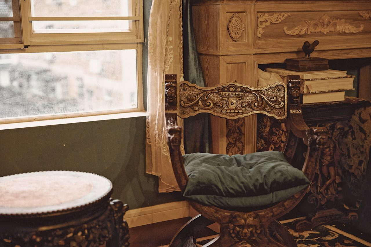 An antique chair - you need to store your antique furniture safely