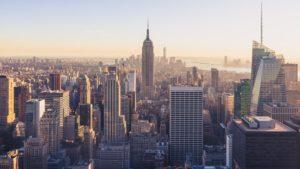 The panorama of Manhattan