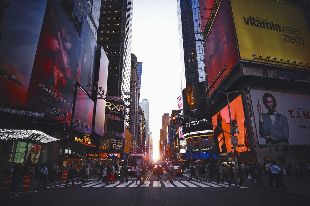 New York City crosswalk.
