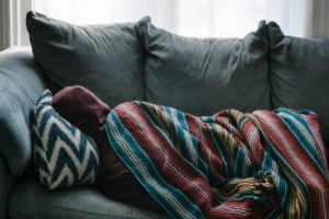 A person tired from Moving while sick.