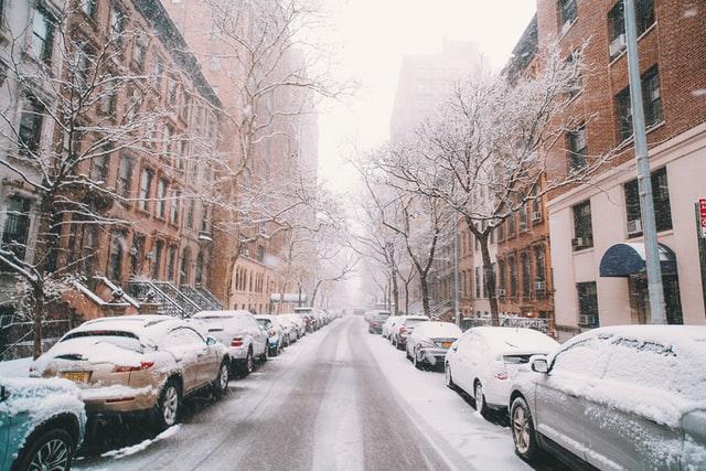 Quiet neighborhoods in Manhattan- winter edition.