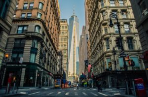 Quiet neighborhoods in Manhattan on a sunny day