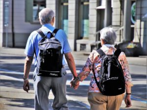 The picture of senior couples moving to Manhattan