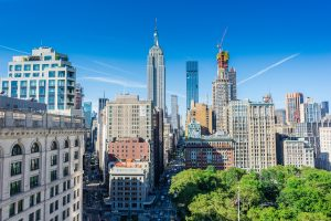 buildings in Manhattan