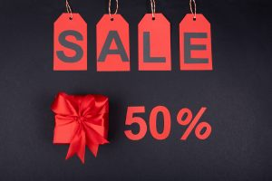 sale of 50%