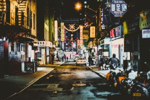 street during the night