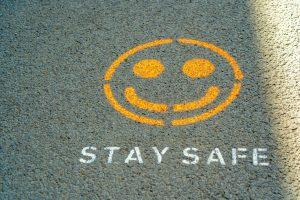 A stay safe graffiti