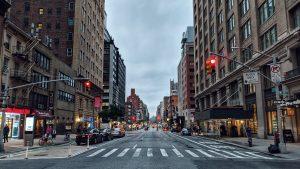 empty streets of Manhattan