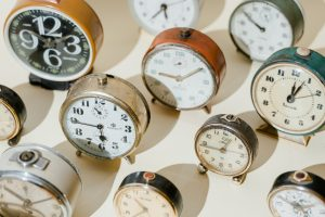 A bunch of old clocks